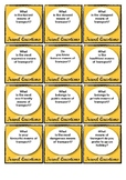 Travel Questions Printable Game Cards for Free Speaking