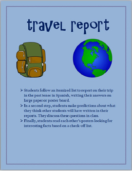 Travel Report Preterit SPANISH