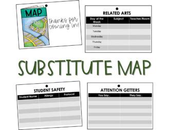 Travel Road Trip: Substitue Map *editable*