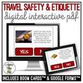 Travel & Safety Etiquette Digital Interactive Activity