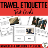 Travel Safety & Etiquette Task Cards for Special Education