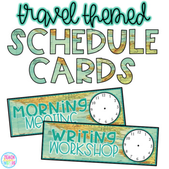 Travel Schedule Cards (Editable)