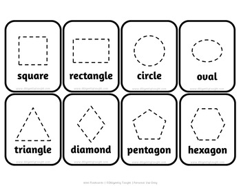 Travel Size Bilingual Shapes Flashcards - Fun, Simple Learning