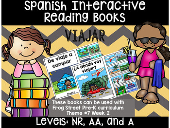 Travel Spanish Interactive Reading Books Can Be Used With Frog Street