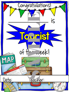 Travel Student of the Week Certificate
