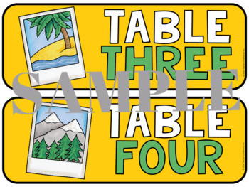 Travel Table Numbers