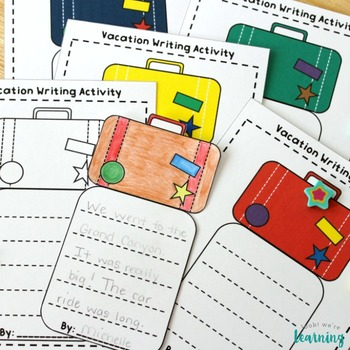 Travel Tales! Back to School Vacation Creative Writing Activity