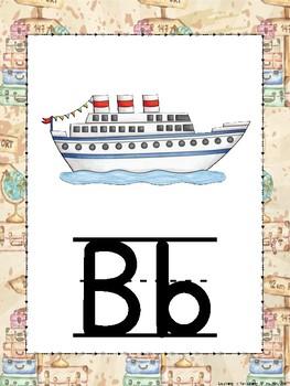 Travel Theme Alphabet Posters