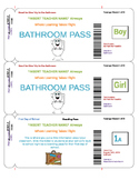 Travel Theme Bathroom Boarding Passes