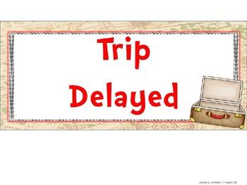 Travel Theme Behavior Clip Chart EDITABLE