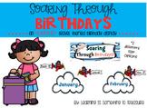 Travel Theme Birthday Chart EDITABLE