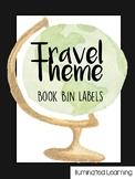 Travel Theme Book Bin Labels