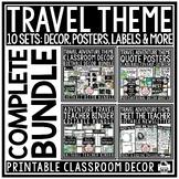 Travel Classroom Theme: Meet the Teacher, Newsletter Templ