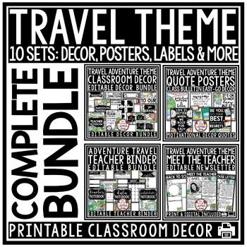 Travel Theme Classroom Decor: Meet the Teacher Editable, Teacher Planner