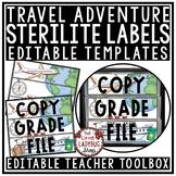 Travel Theme Classroom Decor: Teacher Mailbox 3 Drawer Sterilite Labels Editable