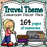 Travel Theme Classroom Decor Pack ⭐Editable⭐