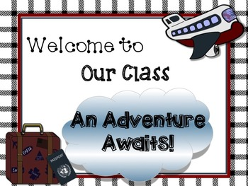 Travel Theme Classroom Posters