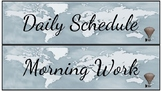 Daily Schedule Cards- Travel Theme