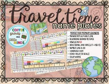 Travel Theme Desk Name Plates