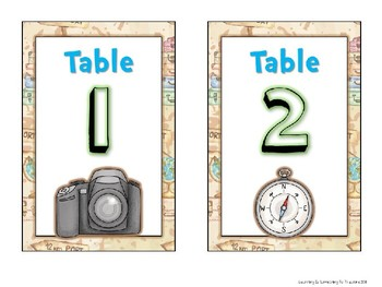 Travel Theme EDITABLE Desk Tags and Organization Labels
