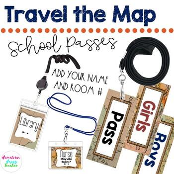 Travel Theme Hallway Passes