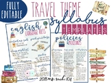Travel Theme Infographic Syllabus: COMPLETELY EDITABLE
