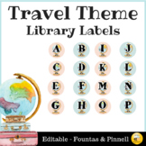 Travel Theme Library Labels - Editable