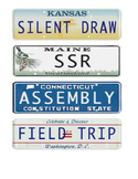 Travel Theme License Plate Labels