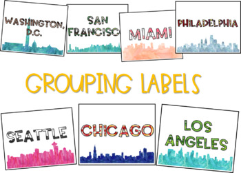 Travel Road Trip: Literacy and Math Station Labels
