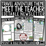 Travel Meet the Teacher Template Editable: Back to School
