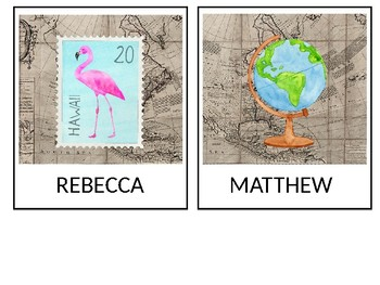 Travel Theme Name Tags for Classroom