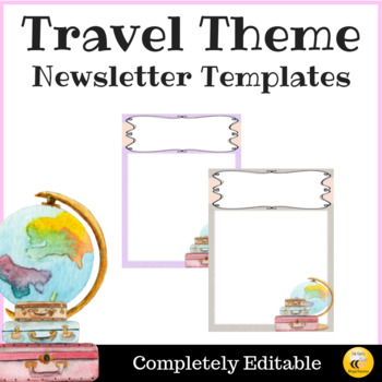 Travel Theme Newsletter Template - Editable