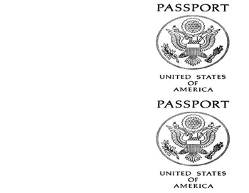 Travel Theme Passport Cover