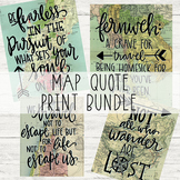 Travel Theme Quote Classroom Posters