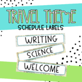 Travel Theme Schedule Label Decor
