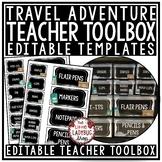 Travel Theme Classroom Decor: Teacher Toolbox Labels Editable