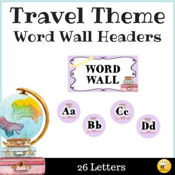 Travel Theme Word Wall Headers