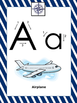 Travel Themed Alphabet Posters with Letter Formation Guide