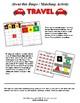 Travel Themed Bingo Matching Activity Set