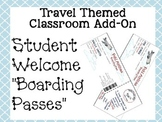 "Travel Themed Classroom Add On--Editable Student Welcome ""Boarding Passes"""