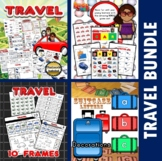 Travel Themed Classroom Center Bundle