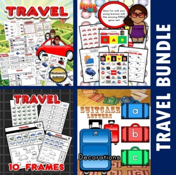 Travel Themed Classroom Center Bundle