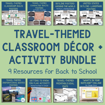 Travel Themed Classroom Decor Bundle
