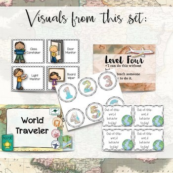 Travel-Themed Classroom Decor Set