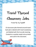 Travel Themed Classroom Jobs