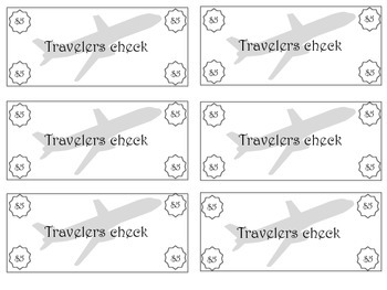 Travel Themed Classroom Travelers Checks