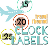 Travel Themed Clock Labels