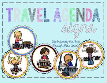 Travel-Themed Daily Agenda Signs
