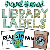 Travel Themed Library Labels