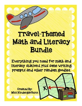 Travel-Themed Literacy and Math Bundle